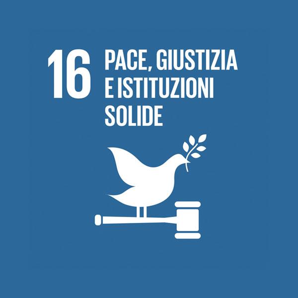 Obiettivo 16: pace, giustizia e istituzioni solide